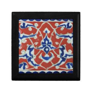 Era turca roja, blanca, azul del otomano de la tej cajas de recuerdo