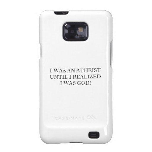 ¡Era un ateo hasta que realizara que era dios! Samsung Galaxy S2 Funda