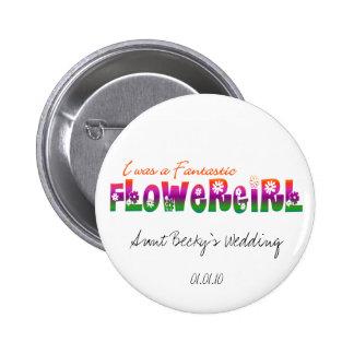 Era un botón fantástico del florista pin redondo de 2 pulgadas