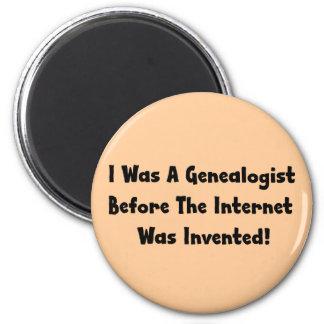 Era un Genealogist antes de que el Internet fuera Imán Redondo 5 Cm