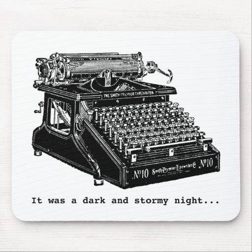 Era una noche oscura y tempestuosa alfombrillas de raton