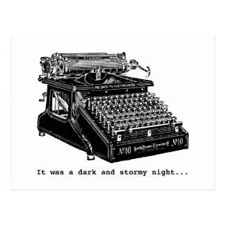 Era una noche oscura y tempestuosa postales
