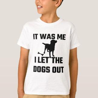 Era yo que dejé los perros hacia fuera camisas