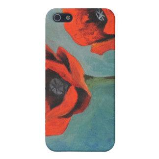 Éramos tres amapolas anaranjadas iPhone 5 carcasas