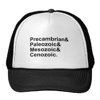 Eras cenozoicas mesozoicas paleozoicas gorras