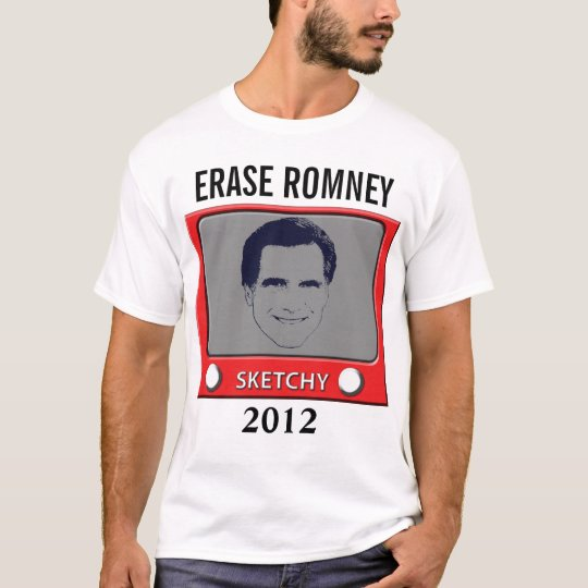 Erase Romney 2012 Sketch Toy T-Shirt