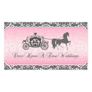 Érase una vez casar el caballo y el carro tarjetas de visita