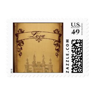 Érase una vez casar franqueo del amor sellos postales