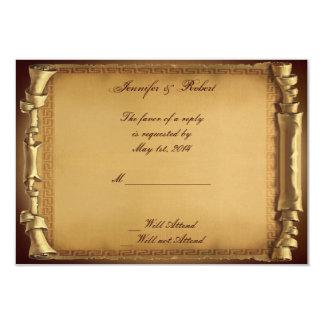 Érase una vez casar la tarjeta de la respuesta invitación 8,9 x 12,7 cm