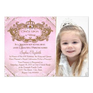 """Érase una vez fiesta de cumpleaños de princesa invitación 5"""" x 7"""""""