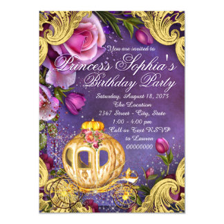 """Érase una vez fiesta de la princesa cumpleaños invitación 4.5"""" x 6.25"""""""