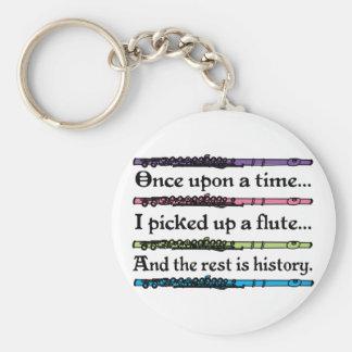 Érase una vez flauta linda llavero redondo tipo pin