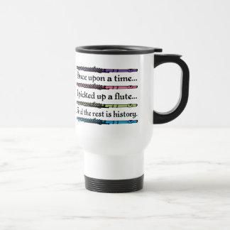 Érase una vez flauta linda tazas de café