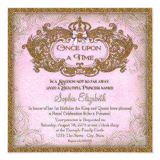 Érase una vez princesa Birthday Invitación 13,3 Cm X 13,3cm
