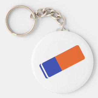 Eraser Basic Round Button Keychain