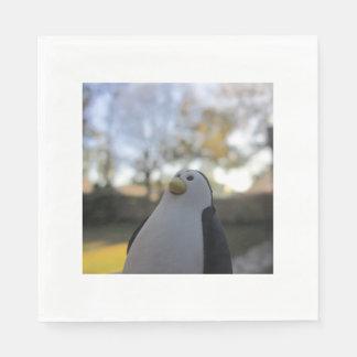 Eraser Penguin White Standard Luncheon Napkins