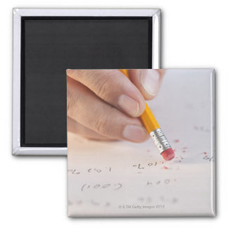 Erasing incorrect numbers 2 inch square magnet