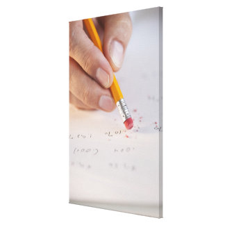 Erasing incorrect numbers canvas print