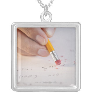 Erasing incorrect numbers personalized necklace
