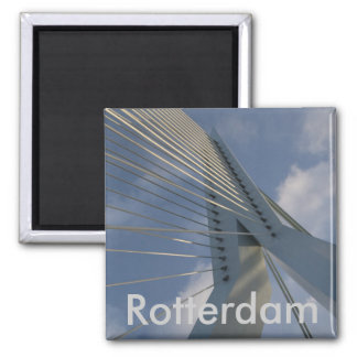 Erasmus Bridge, Rotterdam 2 Inch Square Magnet