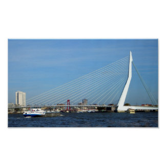 Erasmus Bridge, Rotterdam, Netherlands Photography Poster