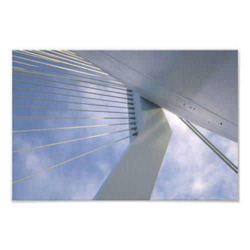 Erasmus bridge over the Meuse river, Rotterdam