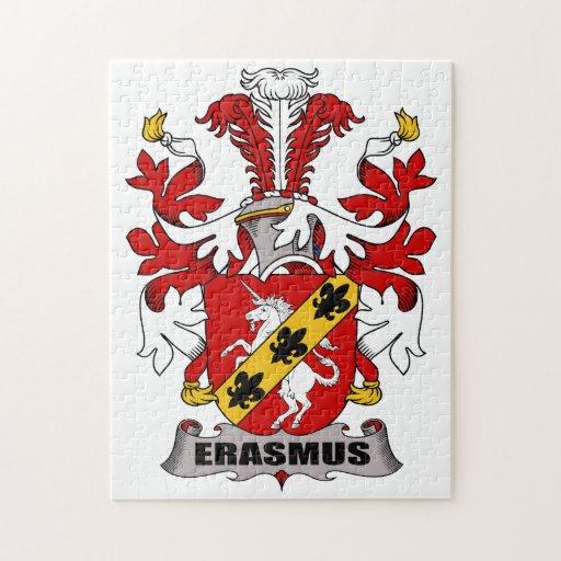Erasmus Family Crest Jigsaw Puzzle Zazzle