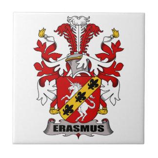 Erasmus Family Crest Tile
