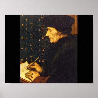 Erasmus', Hans Holbein the_Dutch Masters Poster
