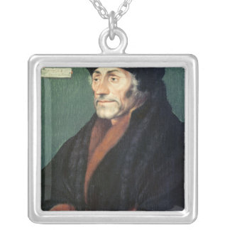 Erasmus of Rotterdam Silver Plated Necklace