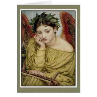 Erato, musa de la poesía lírica tarjeta de felicitación