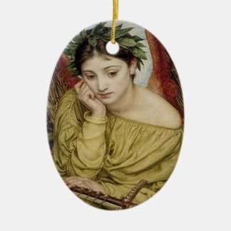"""Erato, Muse of Lyric Poetry"" Ceramic Ornament"