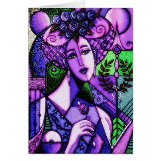 Erato Mythology Goddess Muse of Love Poetry Card