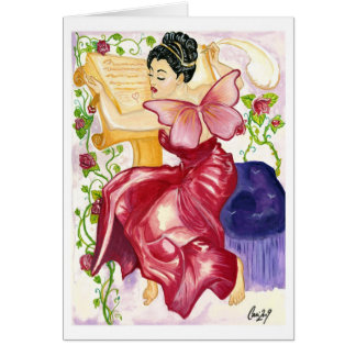 Erato, The Fairy Muse of Love Poetry Card