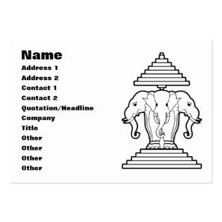 Erawan Three Headed Elephant Lao / Laos Flag Business Card