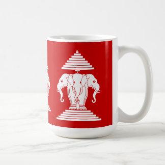 Erawan Three Headed Elephant Lao / Laos Flag Coffee Mug
