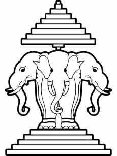1279f7078adf5 Lao 3 Headed Elephant Flag Gifts on Zazzle