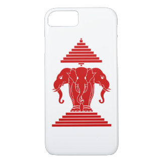 Erawan Three Headed Elephant Lao / Laos Flag iPhone 7 Case
