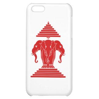 Erawan Three Headed Elephant Lao Laos Flag Cover For iPhone 5C