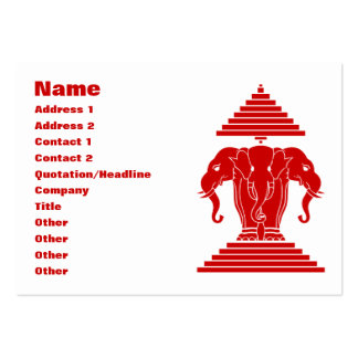Erawan Three Headed Elephant Lao / Laos Flag Large Business Cards (Pack Of 100)