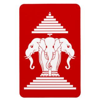 Erawan Three Headed Elephant Lao / Laos Flag Magnet