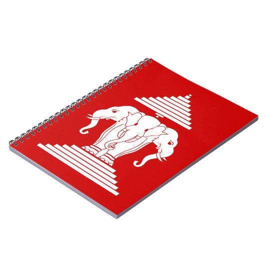 Erawan Three Headed Elephant Lao / Laos Flag Notebook
