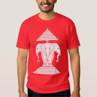 Erawan tres dirigió Lao del elefante/la bandera de Camisas