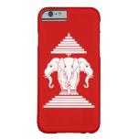 Erawan tres dirigió Lao del elefante/la bandera de Funda De iPhone 6 Barely There