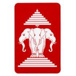 Erawan tres dirigió Lao del elefante/la bandera de Iman Flexible