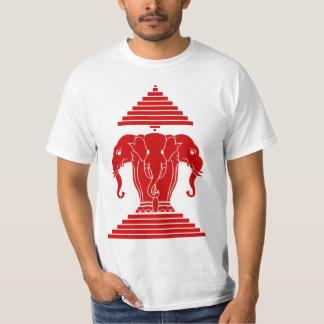 Erawan tres dirigió Lao del elefante/la bandera de Remera