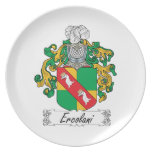 Ercolani Family Crest Party Plate