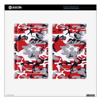 eReaders del camuflaje y pieles rojos de las Kindle Fire Skins