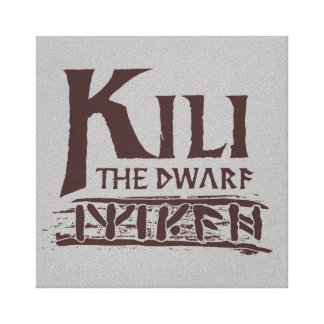 Erebor - Kili Name Canvas Print