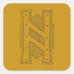 Erebor - símbolo de H Pegatinas Cuadradas Personalizadas